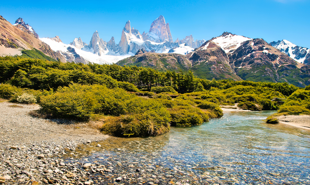 Spectacular view of Mt Fitz Roy