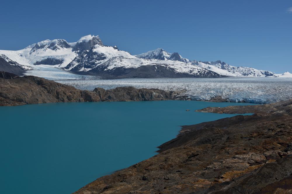 View of Upsala Glacier and Lago Argentino.