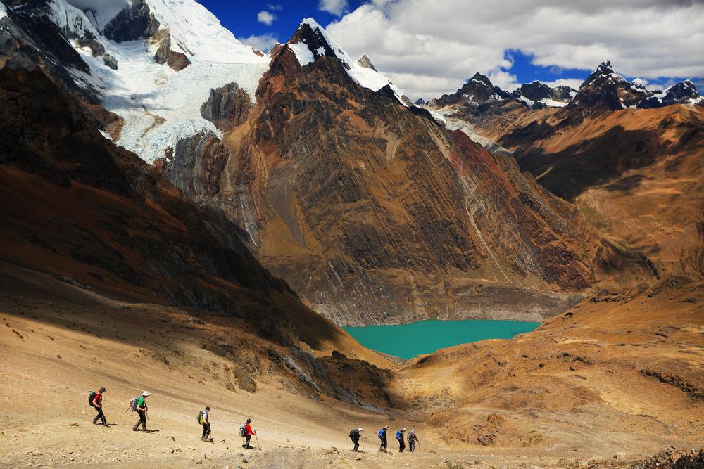 Trekking in Cordiliera Huayhuash.