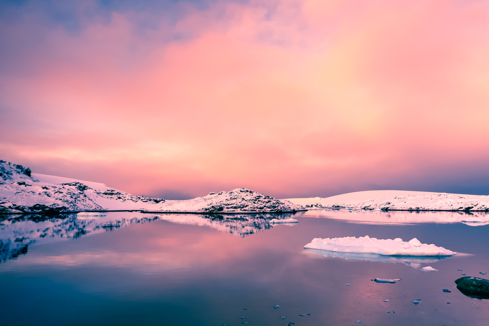Antarctic's pink sky, the child memory of Sophie Hardcatsle