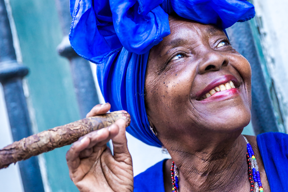 Cuban lady.