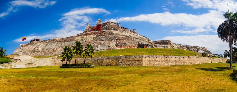 Castillo San Felipe in Cartagena, Colombia.