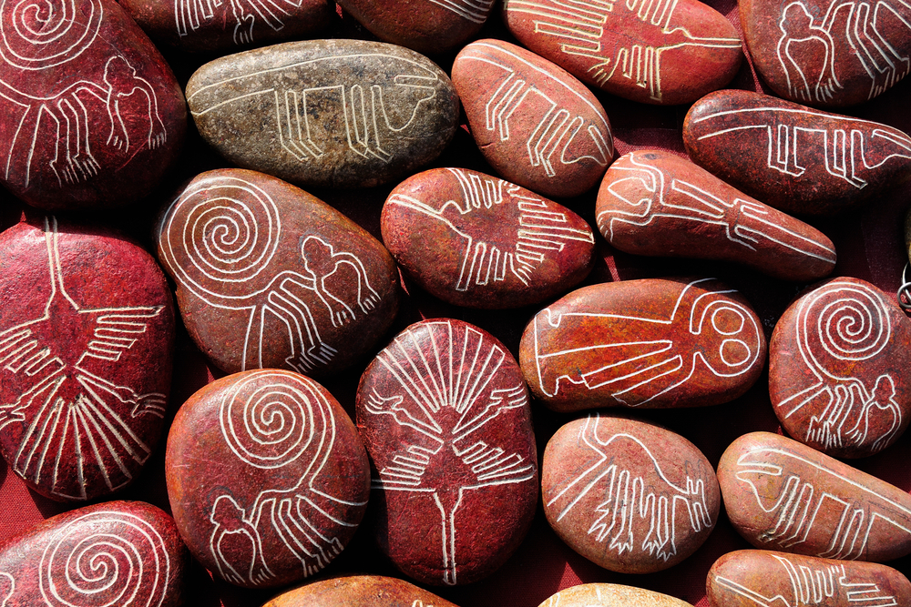 Souvenir rocks from the Nazca Lines.