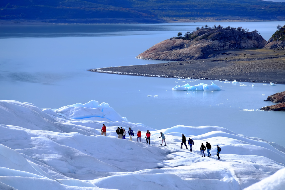 Hiking on Perito Moreno in Los Glaciares National Park