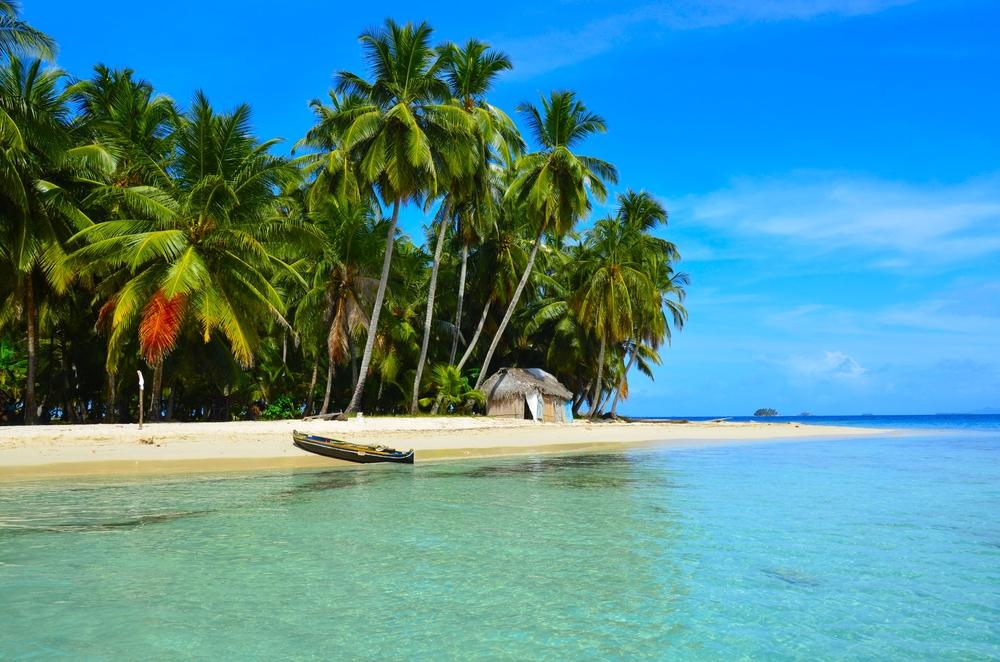 San Blas tropical Island in Panama