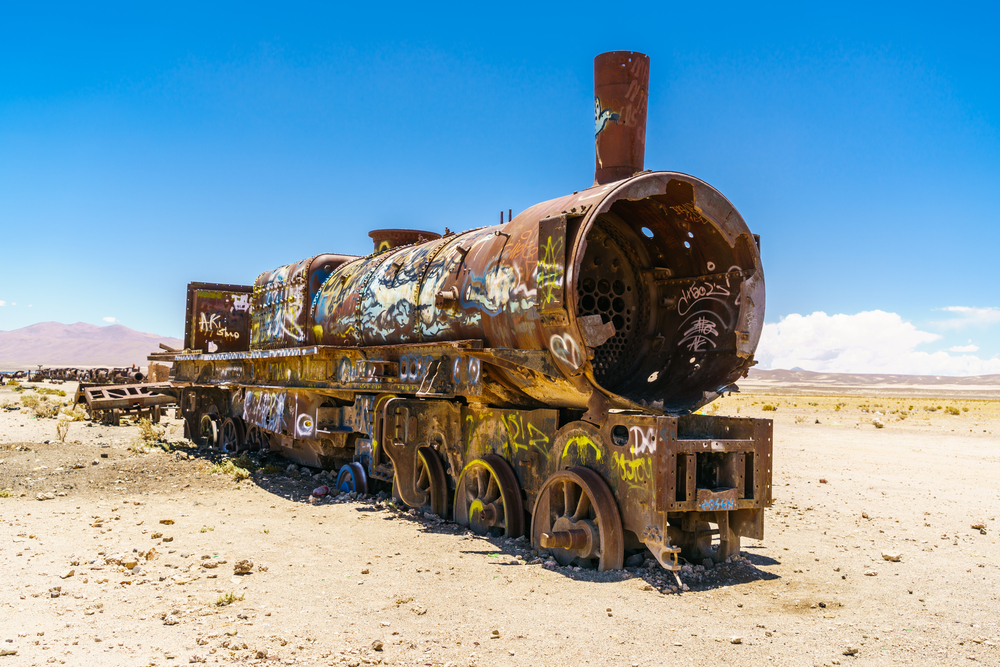 Train Cemetery in Uyuni.