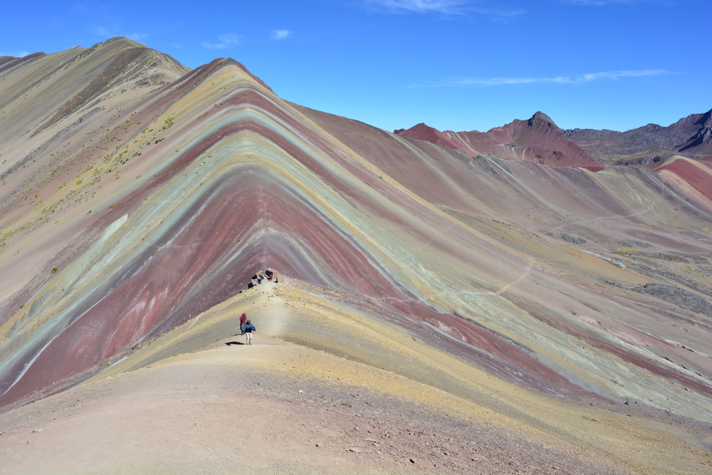 Cerro Colorado, also known as Rainbow Mountains, near to Cusco, Peru