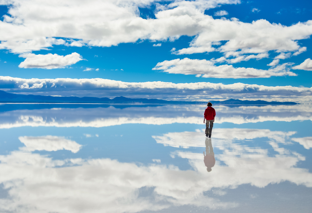 Walking on the Salt Lake.