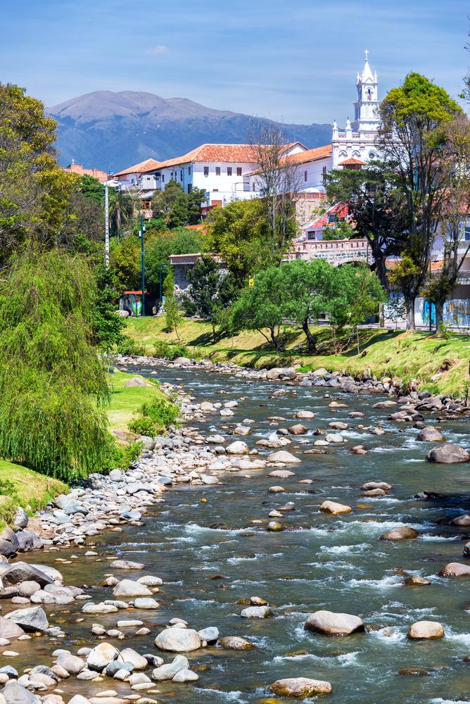 View of Cuenca, Ecuador.