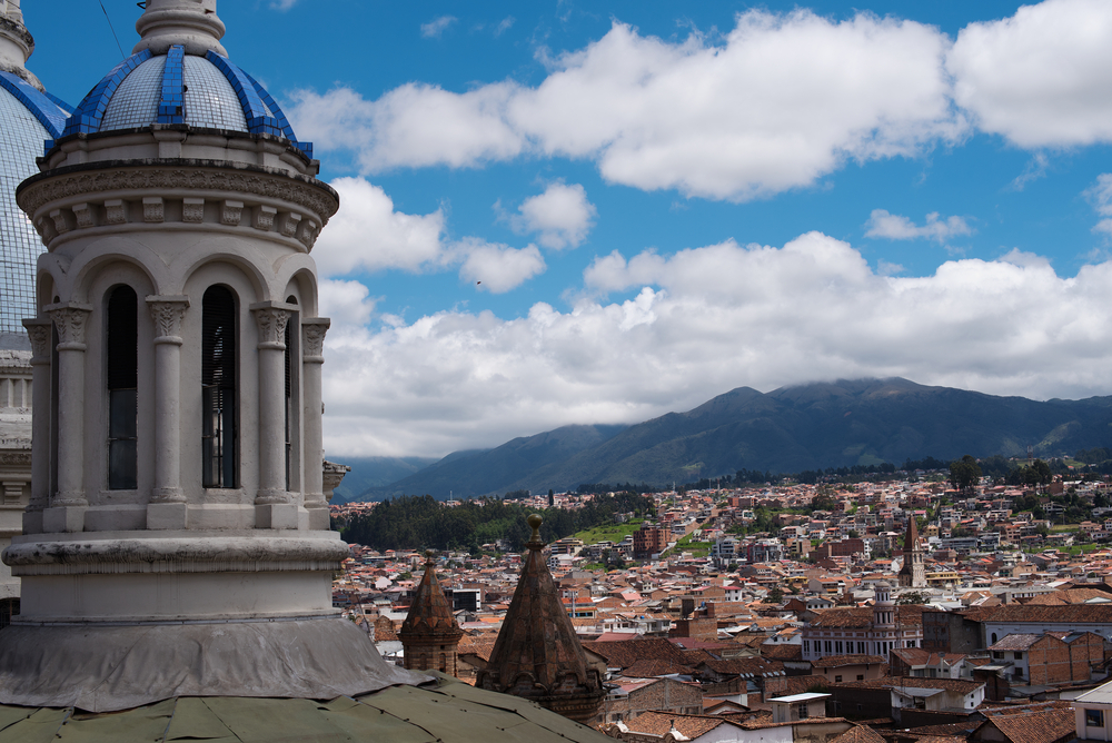 View from cathedral in Cuenca. Ecuador