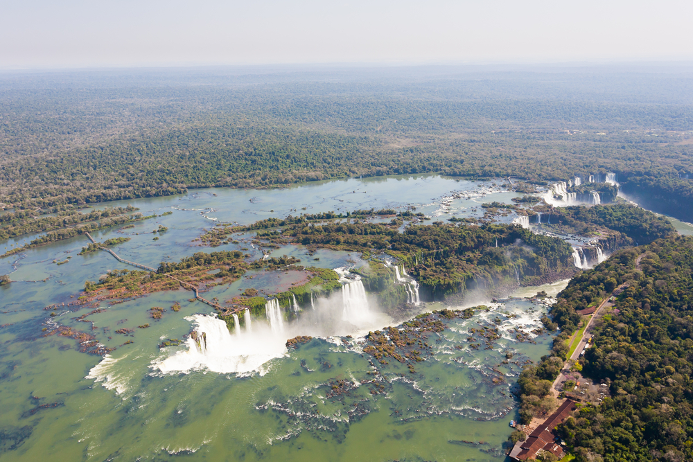 Geography of Argentina: Helicopter view from the Argentinean Iguazu Falls.