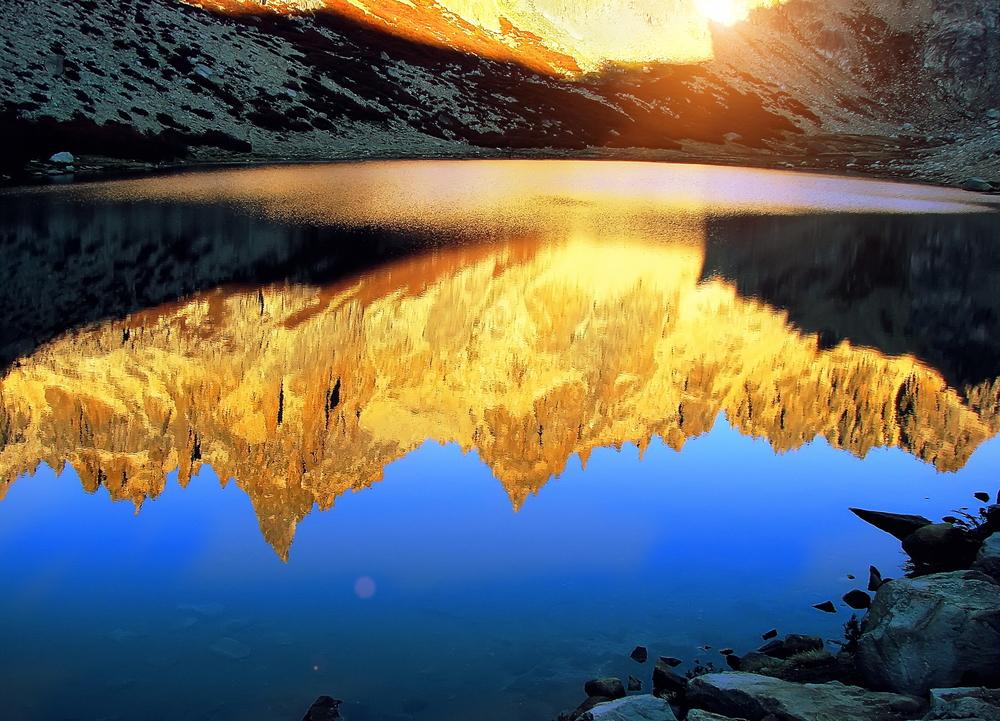 Scenic sunrise in Bariloche.