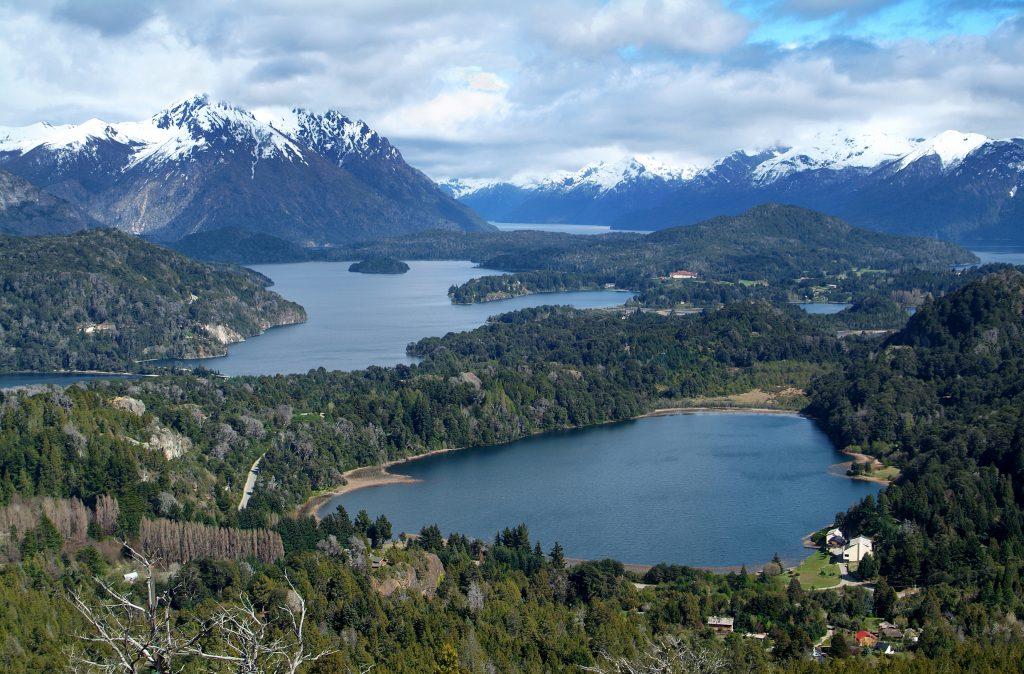 View on the lake Nahuel Huapi near Bariloche, Argentina, from Cerro Campanario