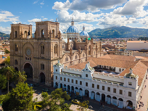 cathedral of the Immaculate Conception aerial view Cuenca Ecuador