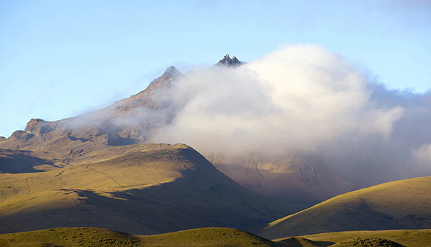Sincholagua Volcano in Cotopaxi National Park, Ecuador