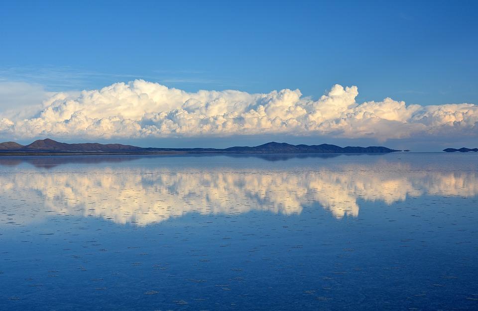 The Bolivian Salt Flats.