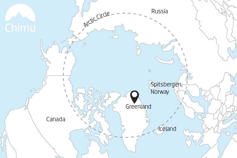 Map of Greenland.