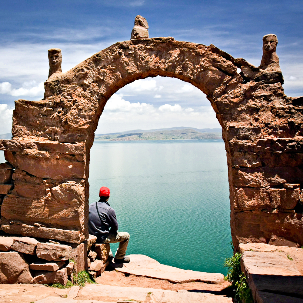 Lake Titicaca in Bolivia/ Peru.
