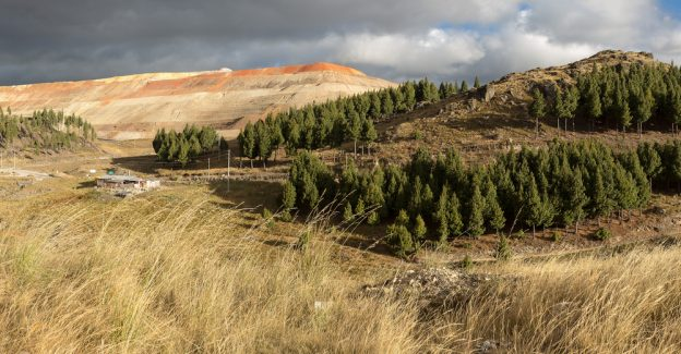 Peru's Yanacocha gold mine, surrounded by Andean pines.