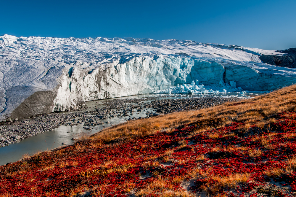 The Greenland glacier (Russell Glacier)
