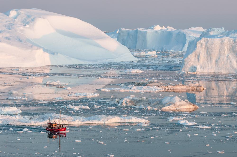 Icebergs of Greenland.