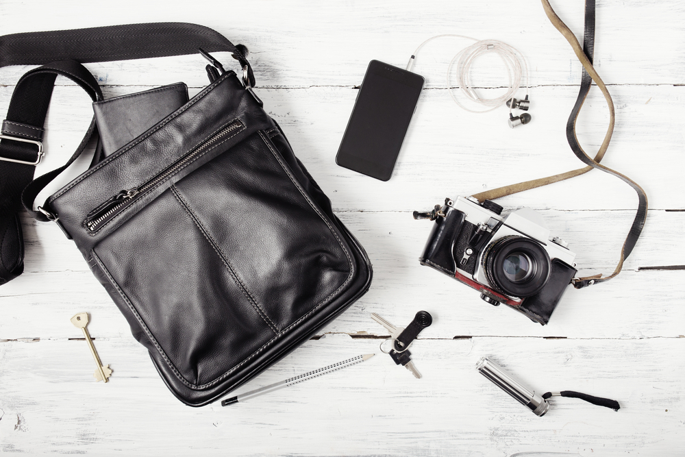 Safe Travel - Have a man bag for your travel.