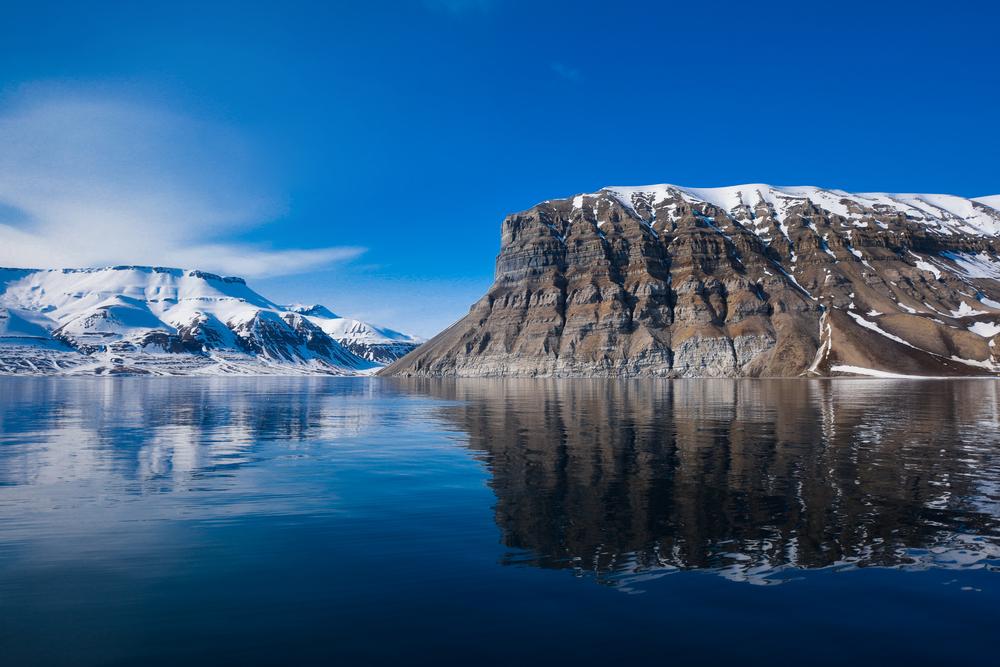 The Arctic scenery.