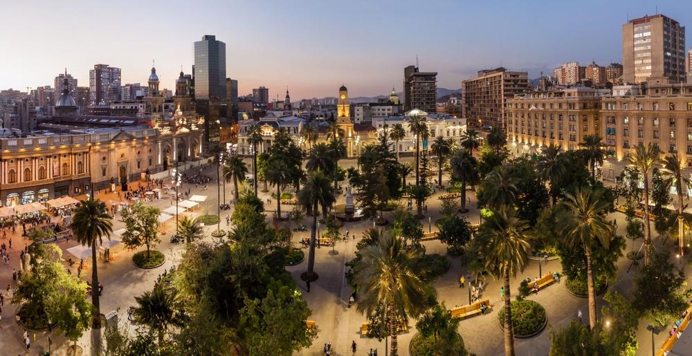 Plaza de Armas in Santiago.