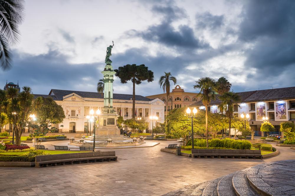 Plaza Grande in the old center of Quito