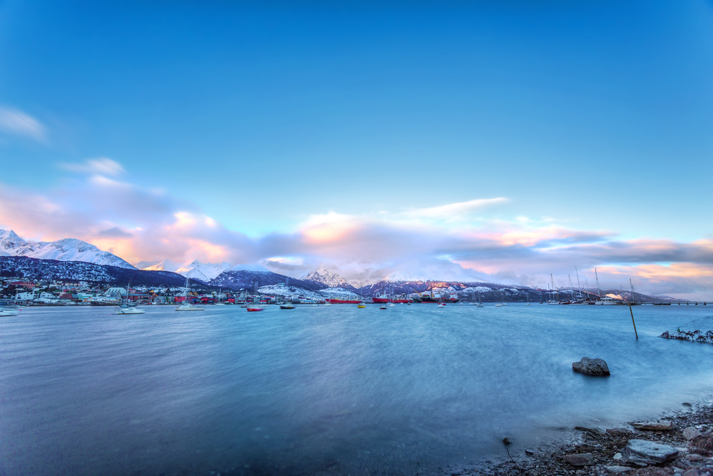 The bay of Ushuaia, in the southernmost tip of the Andes