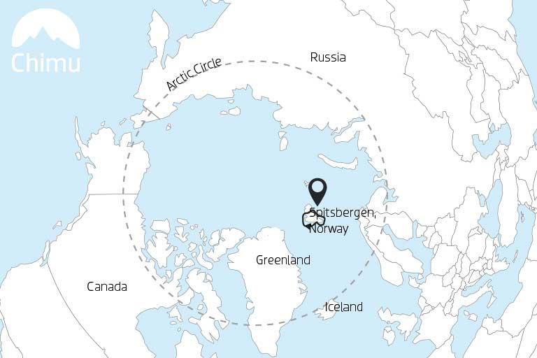 Map of Spitsbergen.