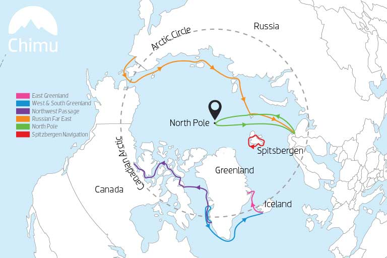 Map of Arctic Expeditions.