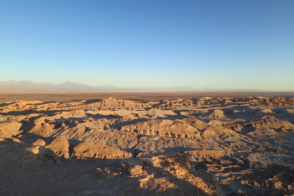 The Atacama desert in Chile.