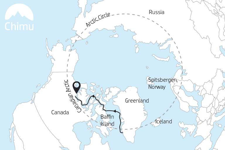 Map of the Canadian Arctic.
