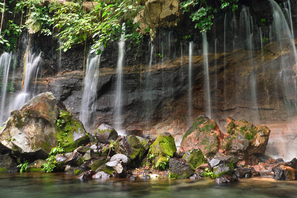 Watch the waterfalls during your Ruta de las flores
