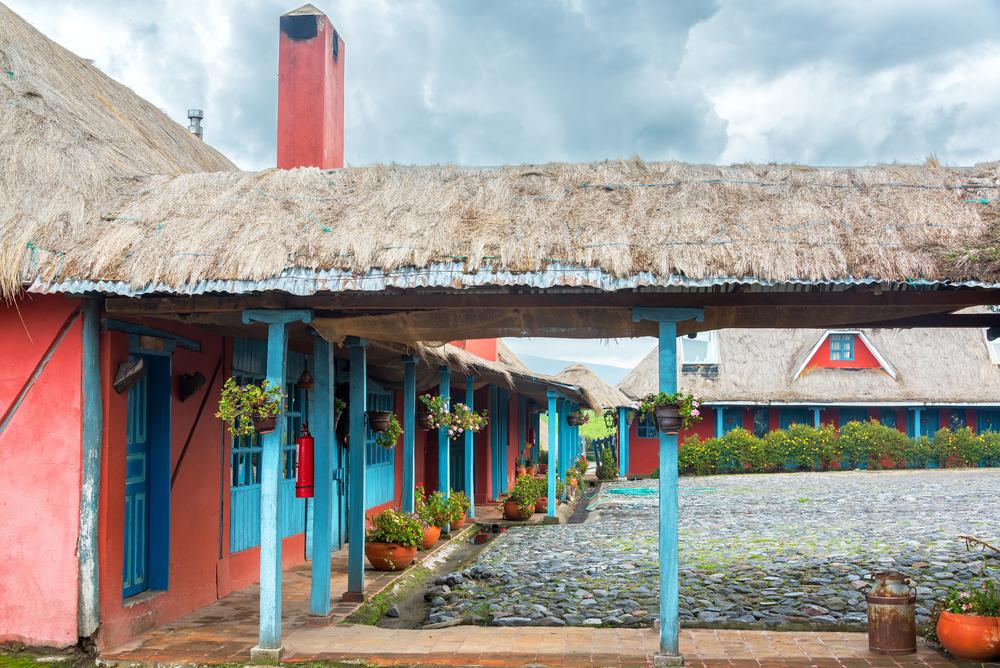 Historical hacienda in South America