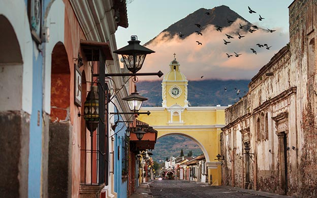 Central America Travel - Colonial architecture in ancient Antigua, Guatemala