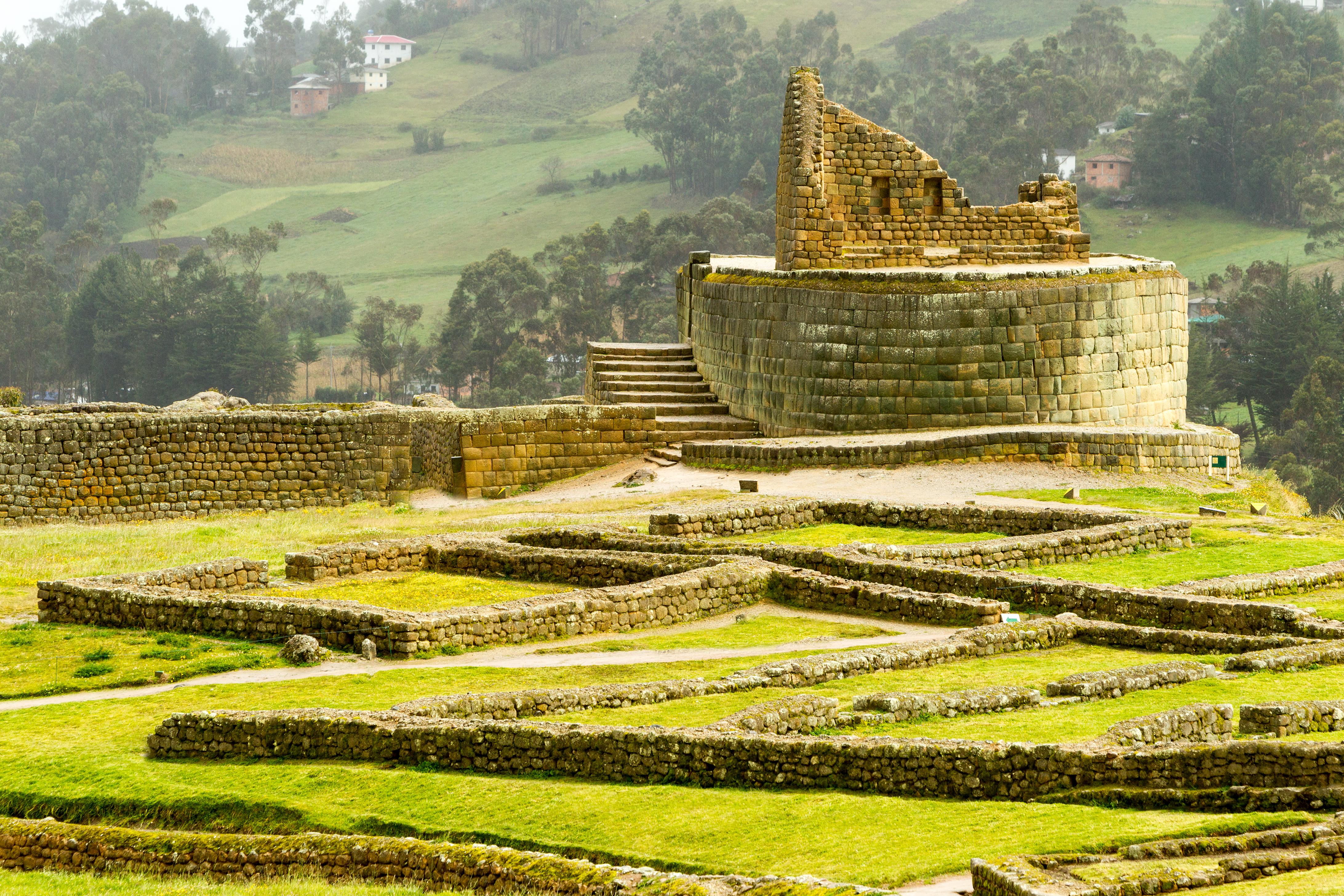 Temple of the Sun ruins Ingapirca Ecuador