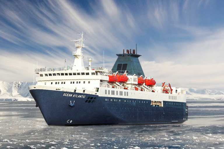 Travel to Antarctica aboard the most affordable cruise ship, the Ocean Atlantic