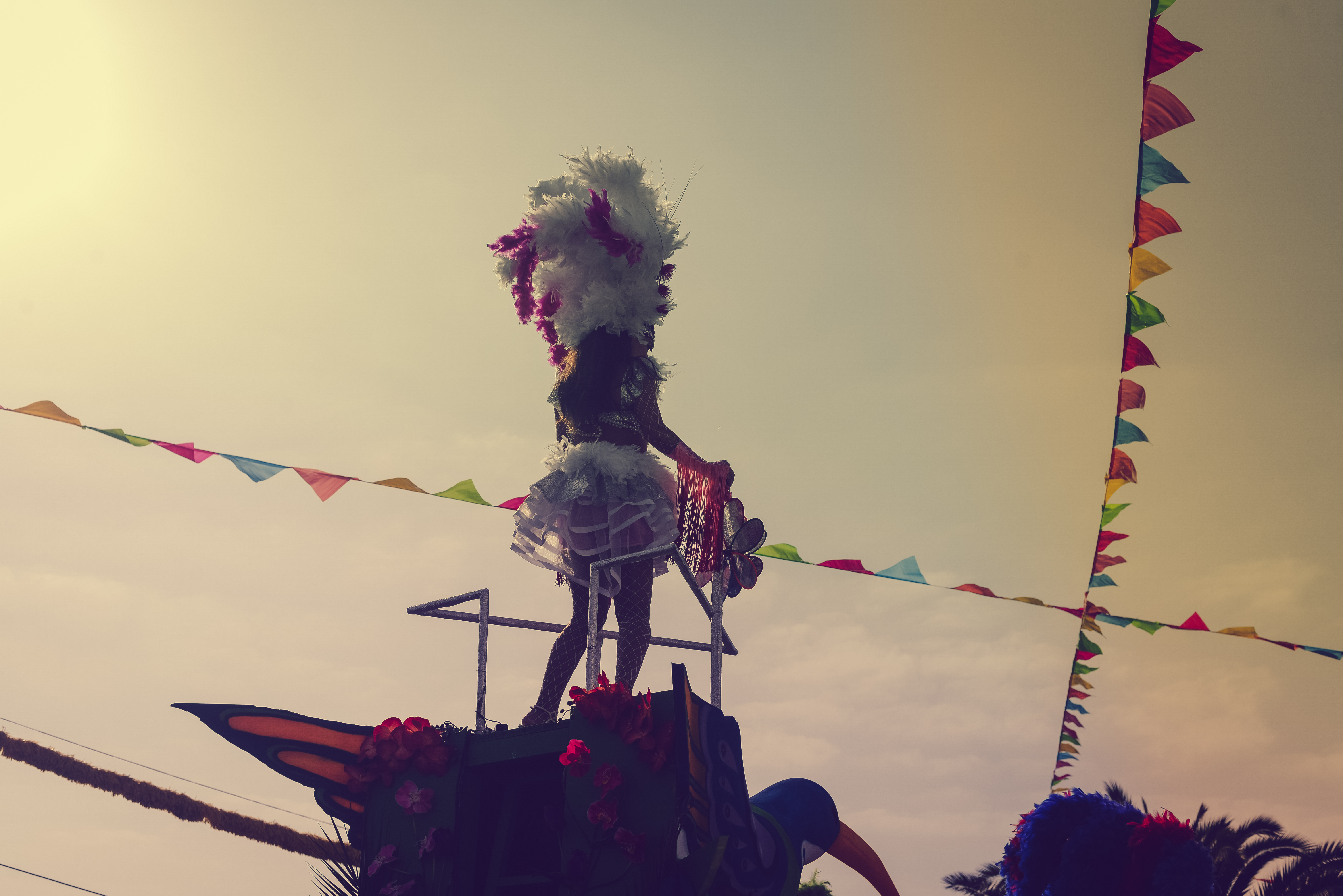 silhouette of dancing woman at the Rio Carnival