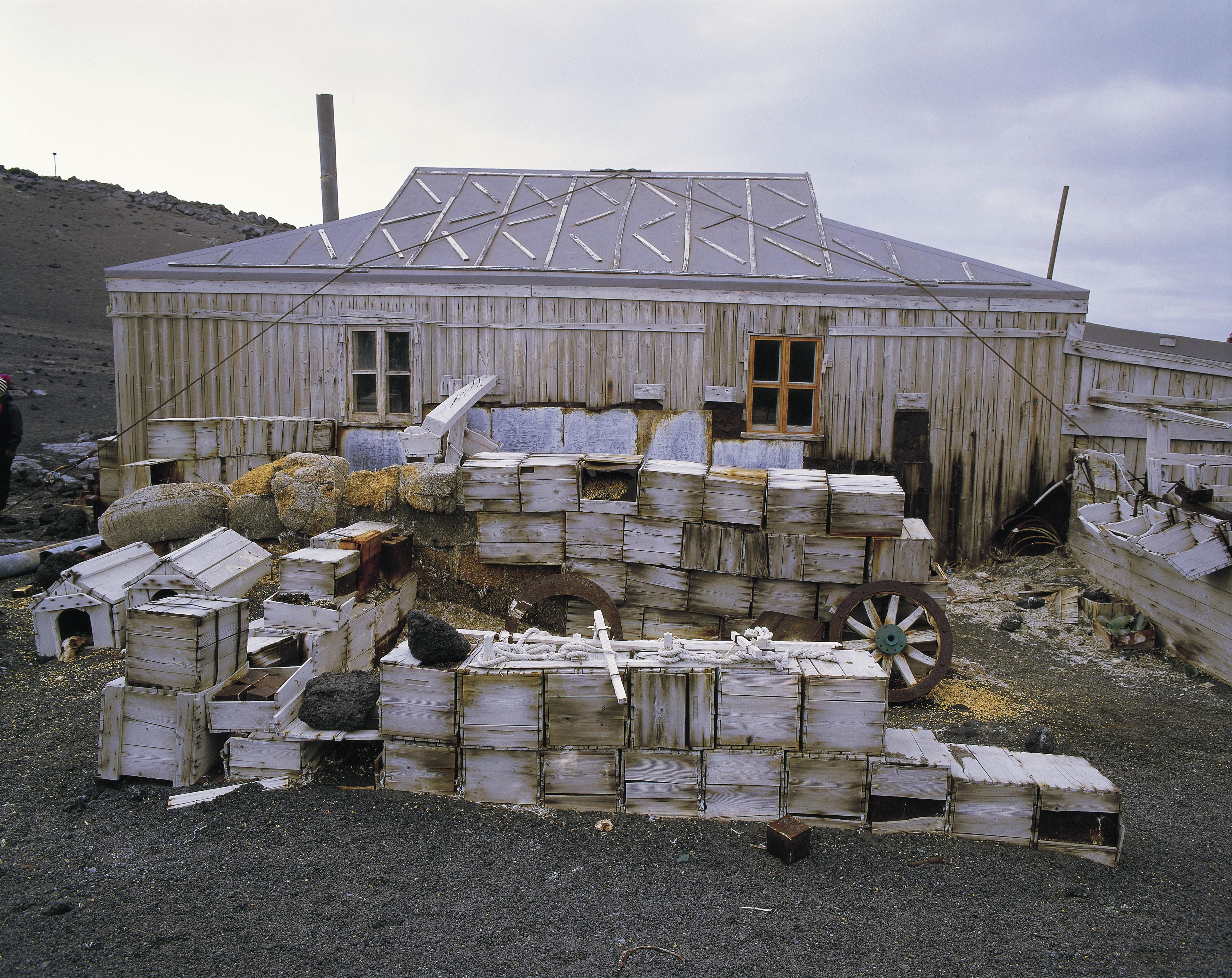 Shackleton's hut in Antarctica