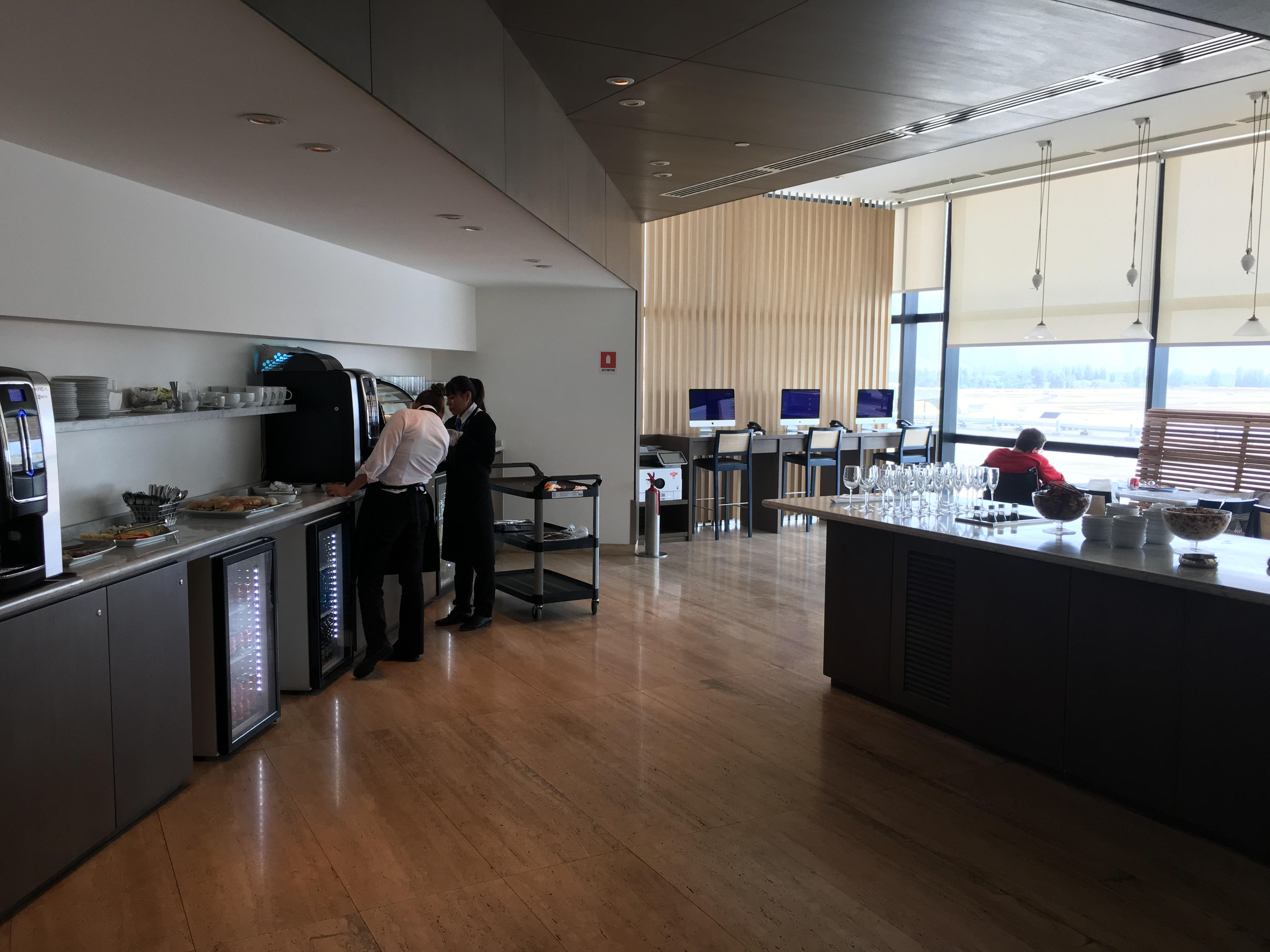 Santiago Airport business lounge