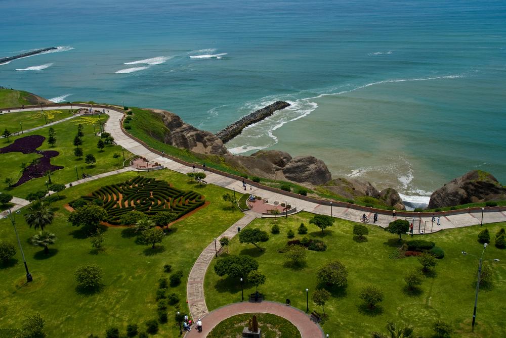 Miraflores tourist hub next to the Lima International Airport