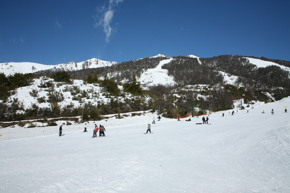 Skiing people in Argentina