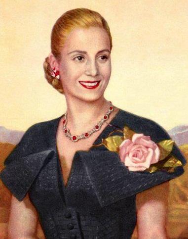Portrait of Eva Peron