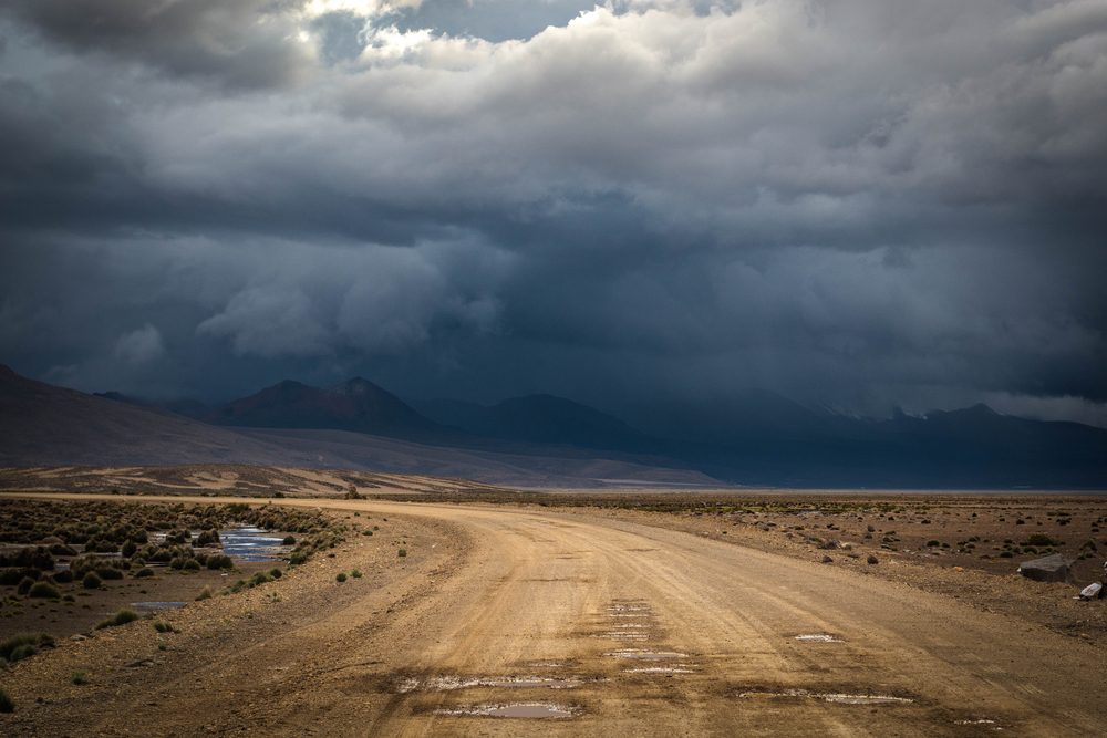 Stormy sky and mountains in Peru South America