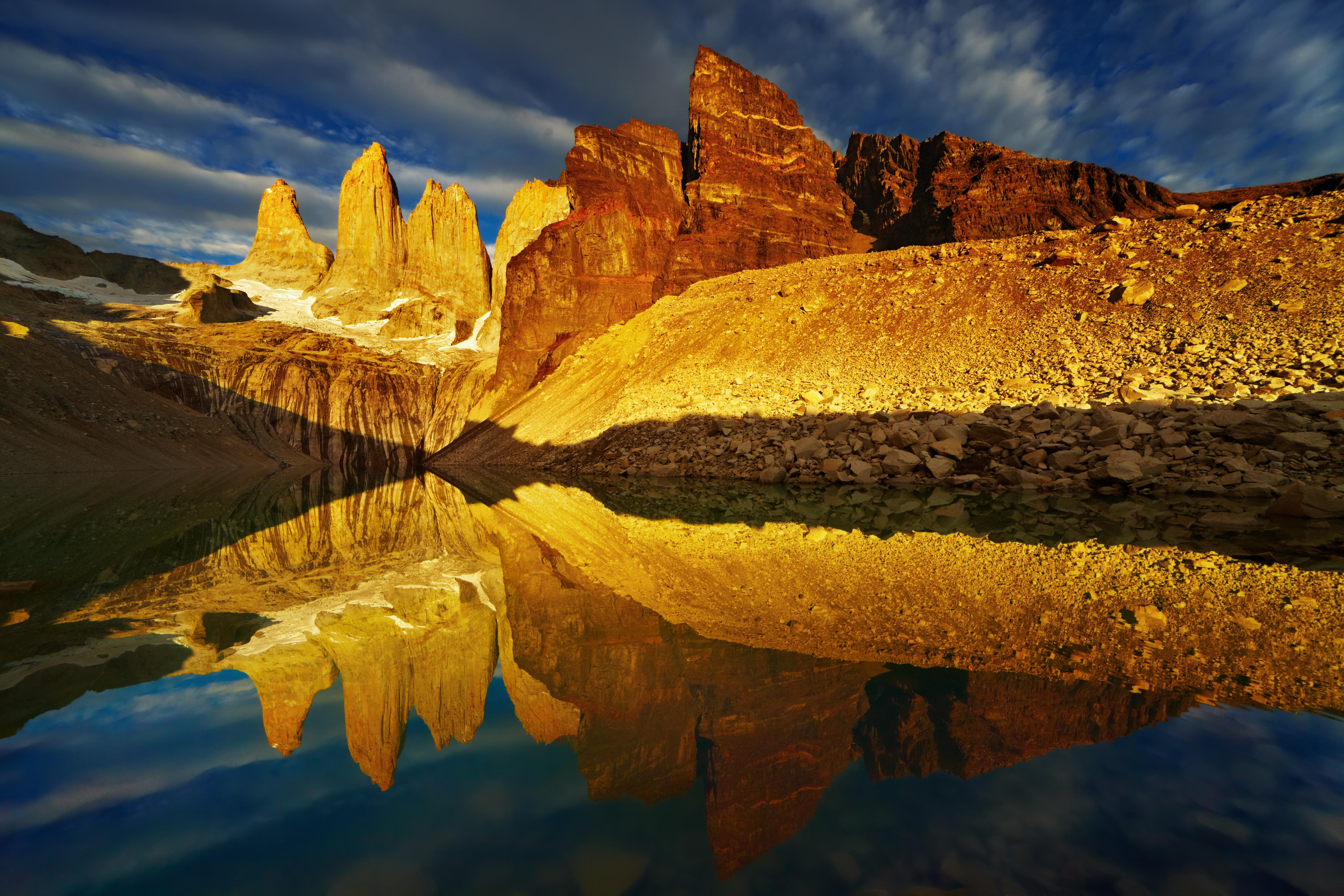 Sunrise at Torres del Paine.
