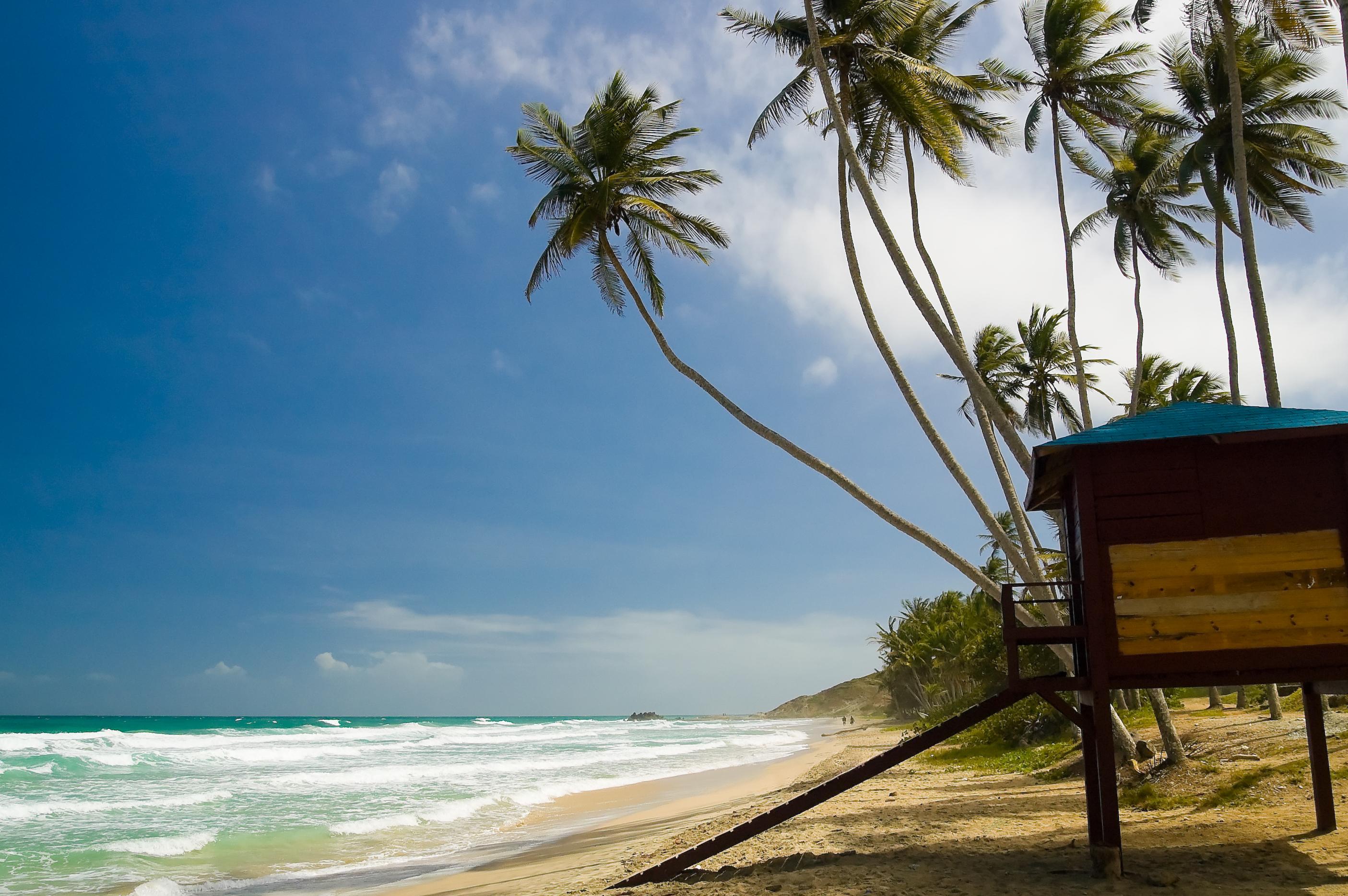 Beach in Venezuela, South America