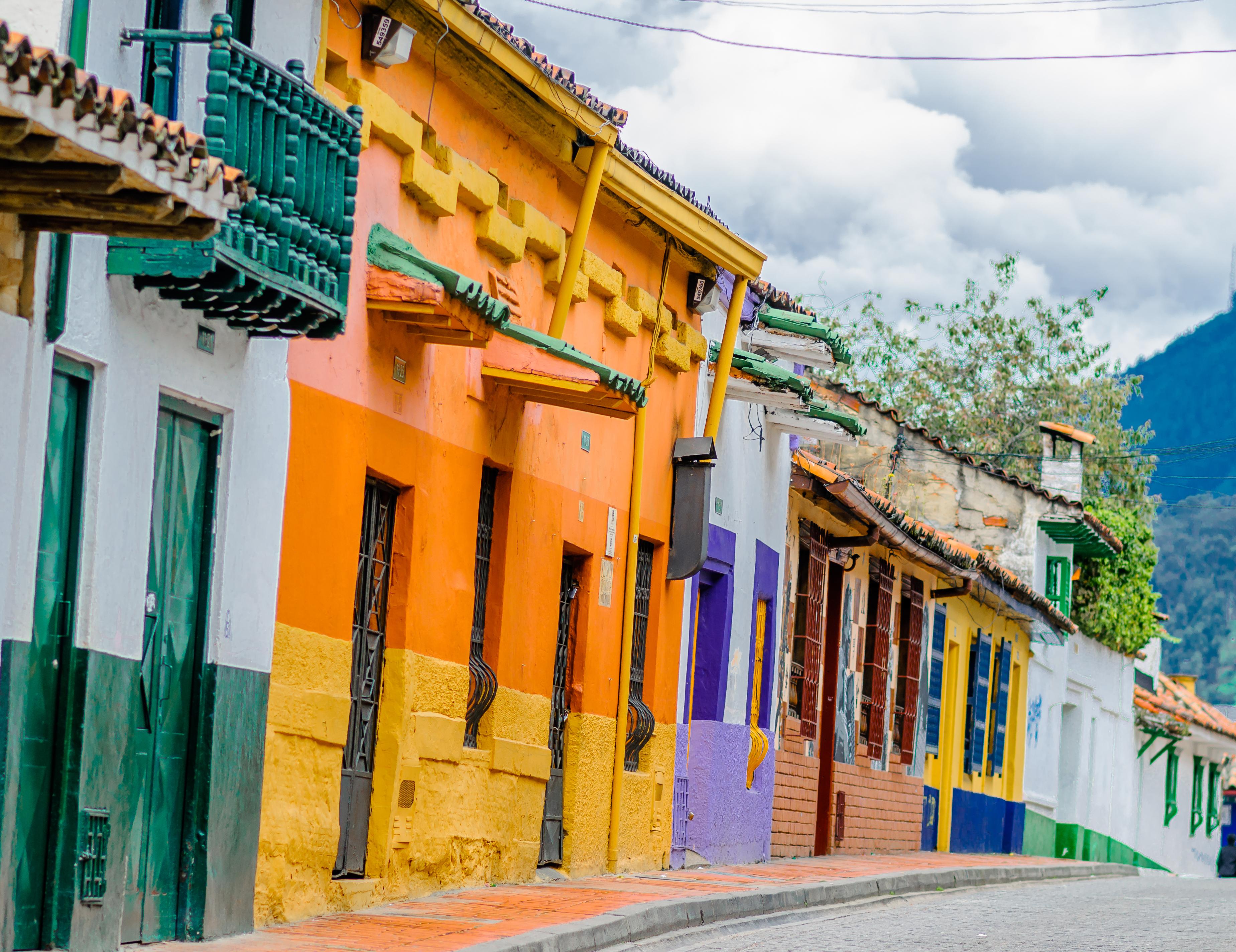 Colorful street in Bogota
