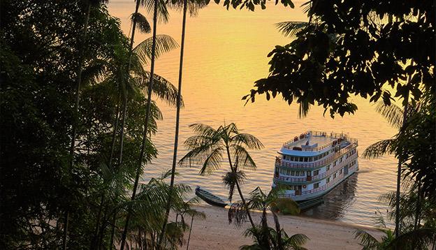 Amazonas River Cruise Ship at Sunset. Photo Credit: Shutterstock